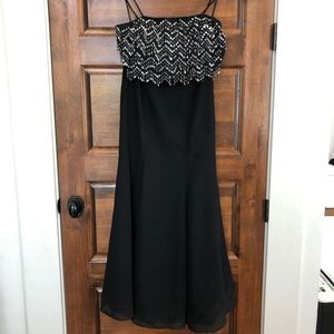 Riva Designs Black Cocktail Evening Dress fo Women